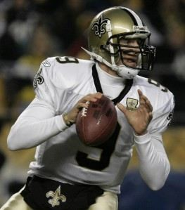 Super Bowl XLIV MVP Quarterback DREW BREES of the New Orleans Saints FedEx  Air NFL 2009 94912f591