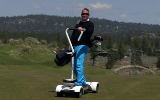 EPIC Golf Cart Lets Rider Stand Up While Surfing