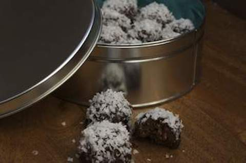 Edible Gift Idea: Coconut Ganache Bourbon Balls, A Christmas Treat With the Taste of Days Gone By