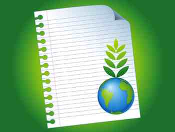 When shopping for notebooks and other paper products, look for a high recycled paper content.