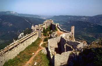 Rambling Through the Ruins of Europe's Castles - Chateau of Peyrepertuse in the French Pyrenees