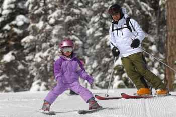 Family Ski Vacations - Learning to ski at Northstar at Tahoe resort