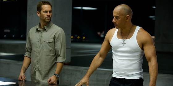 Vin Diesel and Paul Walker  in 'Fast and Furious 6'
