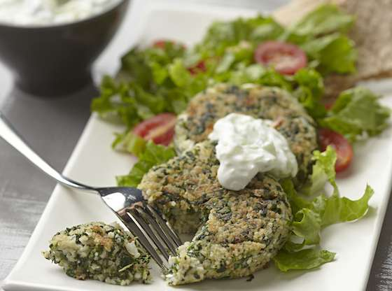 Feta and Spinach Couscous Patties Recipe
