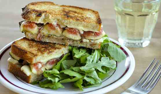 Fig and Prosciutto Grilled Cheese Sandwiches