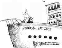 Rising Financial Fat Cat Yachts Lift No Tides (c) Matt Davies