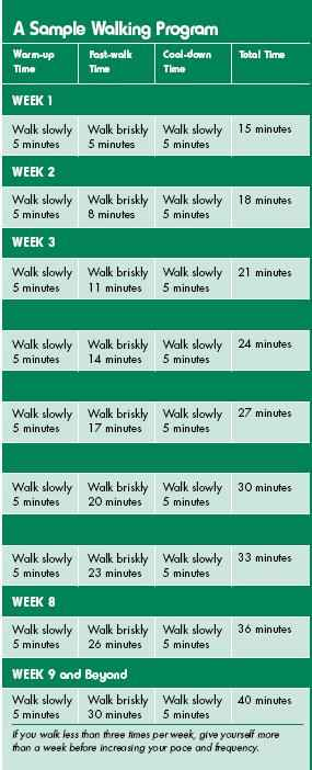 Fitness Sample Program. Walking is one of the easiest ways to be physically active. Regular physical activity is key to being healthy.