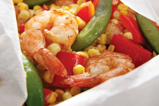 Five-Spice Shrimp and Vegetable Packets Recipe