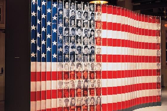 Flag of Faces Exhibit Ellis Island