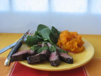 Flank Steaks with Chimichurri Sauce Recipe