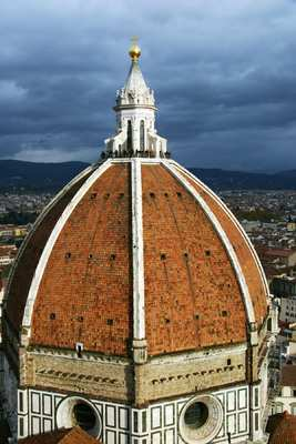 Florence: The Cultural Capital of Europe - Architect Filippo Brunelleschi, inspired by Rome's Pantheon, built Florence's famous cathedral-capping dome in only 14 years