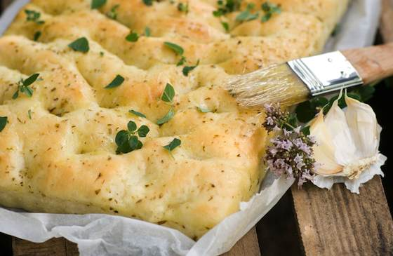 Focaccia with Fresh Thyme Recipe