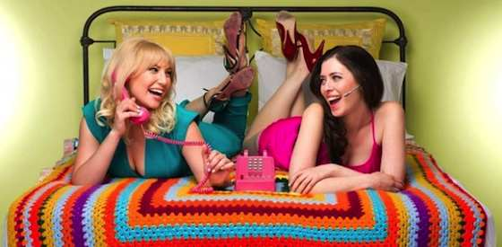 Ari Graynor and Lauren Miller  in For a Good Time, Call ...