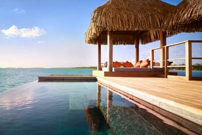 Over Water Bungalow at Four Seasons Bora Bora Resort