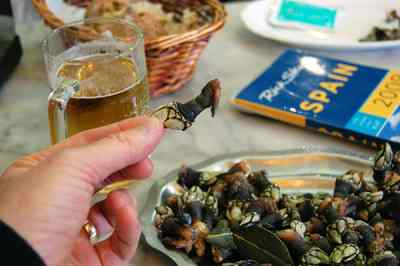 Freshly cooked barnacles are a delicacy in northwestern Spain (and Portugal)