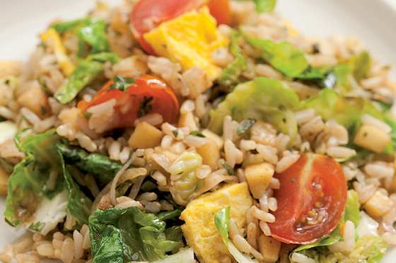 Fried Rice with Parsnips and Brussels Sprouts Recipe