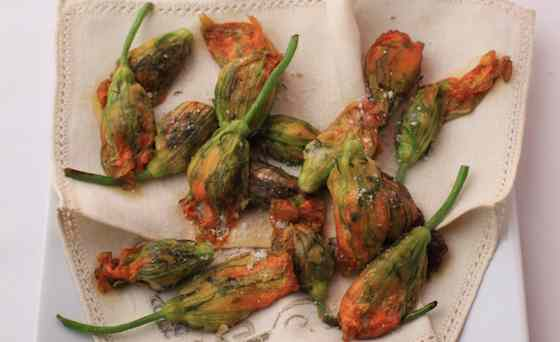 Fried Zucchini Flowers with Parmigiano and Thyme Recipe