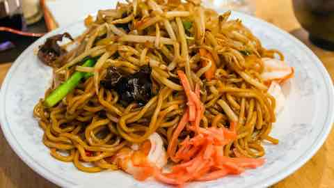Garlic-Ponzu Shrimp with Lo Mein Noodles - Chinese Recipes