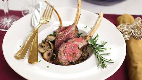 Garlic and Herb Lamb Chops Recipe with Marsala Mushroom Sauce Recipe