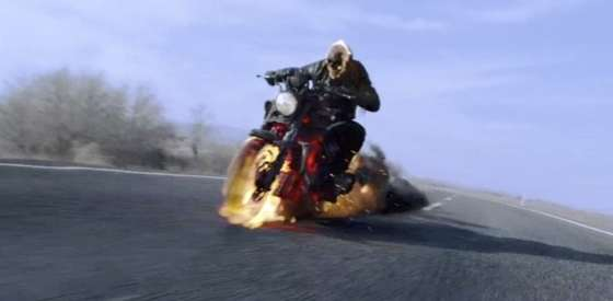 Nicolas Cage and Idris Elbain Ghost Rider: Spirit of Vengeance