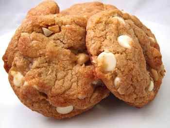Giant White Chocolate Chip Macadamia Nut Cookies  Recipe