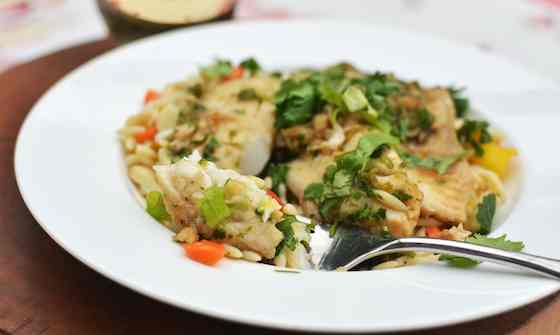 Ginger and Cilantro Baked Tilapia Recipe