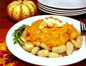 Gnocchi With Pumpkin Rosemary Sauce