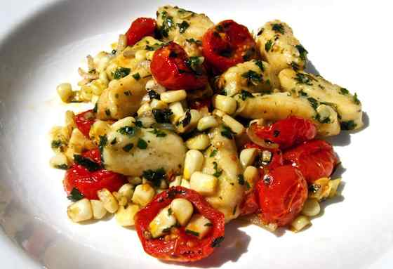 Gnocchi with Farmers Market Fresh Vegetables Recipe