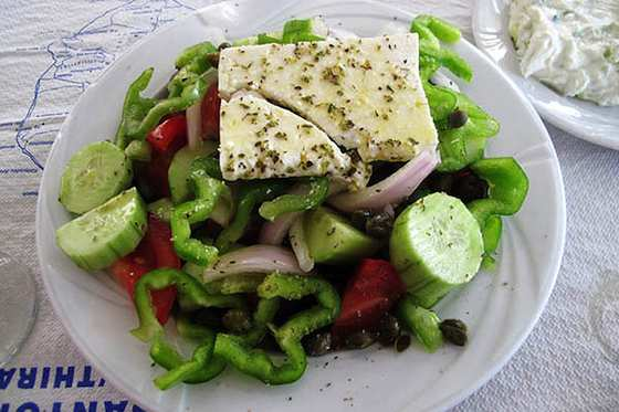 Greek Salad Santorini-Style Recipe