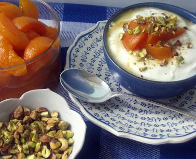 Greek Yogurt with Apricot Compote and Pistachios Recipe