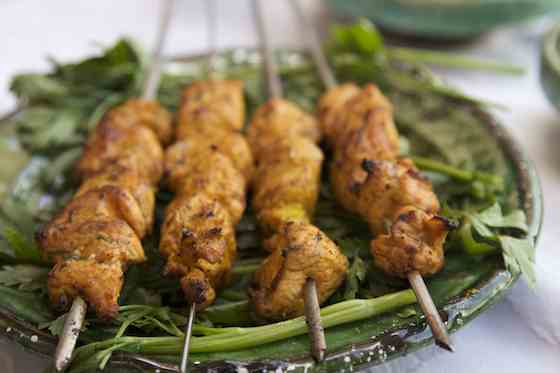 Grilled Marinated Chicken Brochettes with a Moroccan Twist Recipe