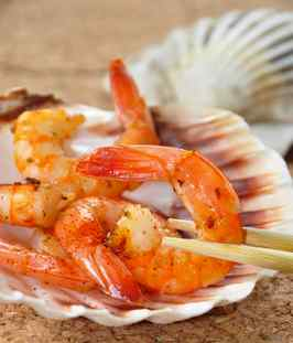 Grilled Shrimp with Old Bay Tequila Lime Marinade