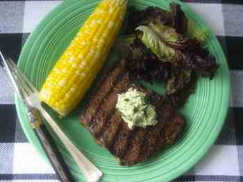 Grilled Sirloin Steaks with Bearnaise Butter