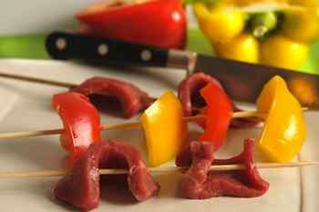 Grilled Steak and Bell Pepper Kabobs