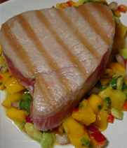 Grilled Tuna with Zesty Tropical-Fruit Salsa Recipe
