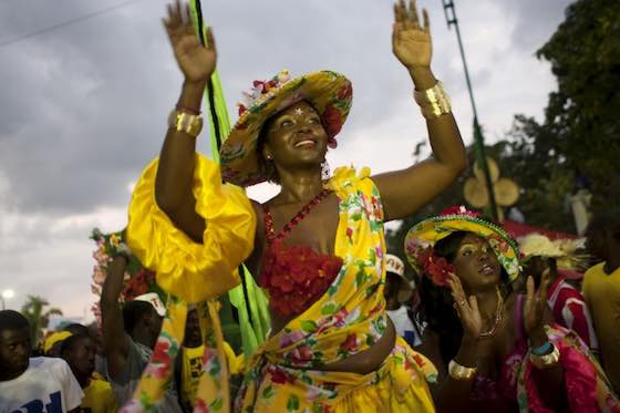 Haiti carnival of flowers