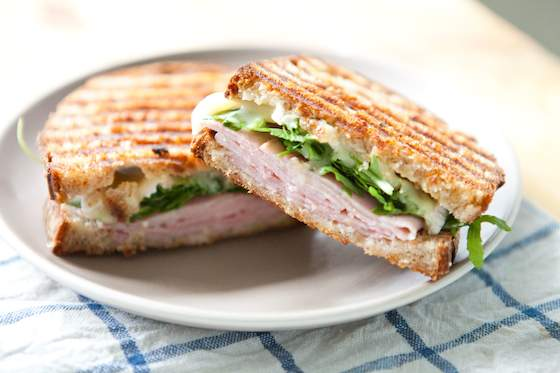Ham, Brie, Marmalade and Arugula Pressed Sandwich Recipe