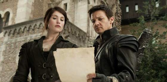 Jeremy Renner and Gemma Arterton  in 'Hansel & Gretel: Witch Hunters'