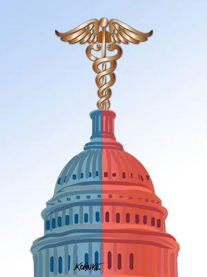 The ongoing health-care debate in Congress (c) Jennifer Kohnke