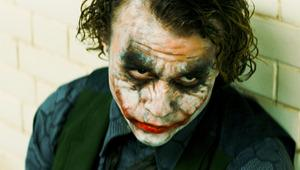 Best Supporting Actor Oscar Academy Award Nomination Heath Ledger as the Joker in the movie The Dark Knight