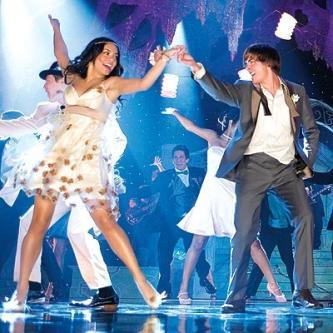 Zac Efron as Troy-Bolton & Vanessa Hudgens as Gabriella Montez star in High School Musical 3: Senior Year