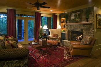 An area rug is a magician when it comes to instantly pulling a room together with unifying color