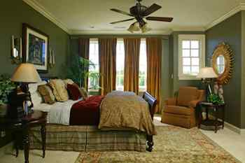 Master Bedroom Design: Making His and Hers Theirs. This living room has the right feel for summer. Pale, painted chairs with light-colored accessories and pale walls makes the room look and feel right for warm weather