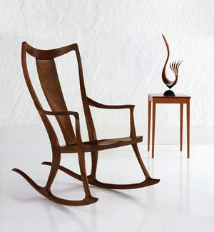 Home Decor - Consider the Humble Rocker. The Edo rocker by Thos. Moser, a maker of interesting wooden furniture.