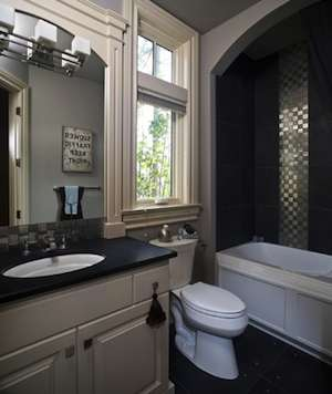 Mixed Metal Finishes In Bathroom