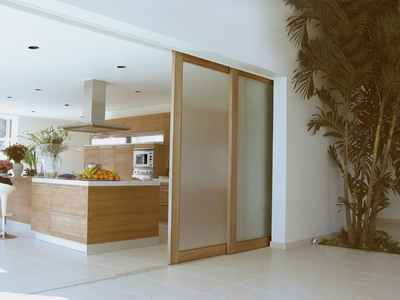 Sliding opaque glass panels are attractive and functional for modern interior - Tips keeping sliding doors reliable functional ...