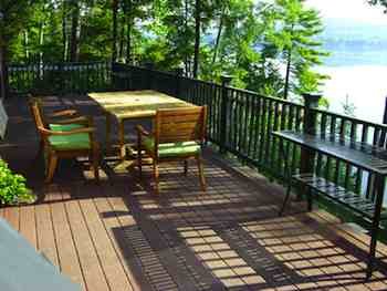 One of your decisions when staining a deck is to choose whether you want a colored or clear finish