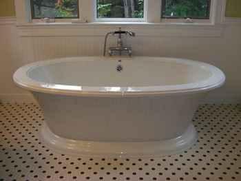 Installing a Vintage Bathtub.
