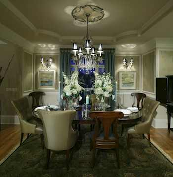 What's more inviting than a dining room with a glittering chandelier and sparkling crystal and china? This fall, focus on cleaning tasks that make your home shine