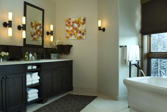 A tasteful, coordinated bathroom that's not overdone should be your decorating goal